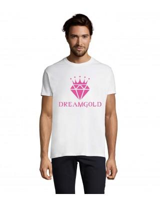 T Shirt Blanc et rose