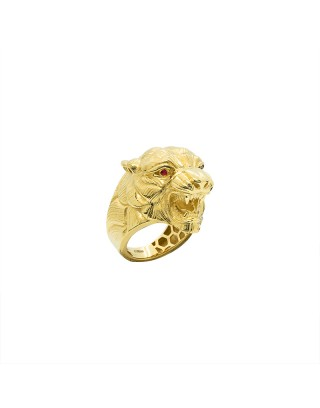 CHEVALIERE PANTHER XL - OR 18K