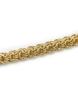 MAILLE MACARON - 6mm - OR 18K