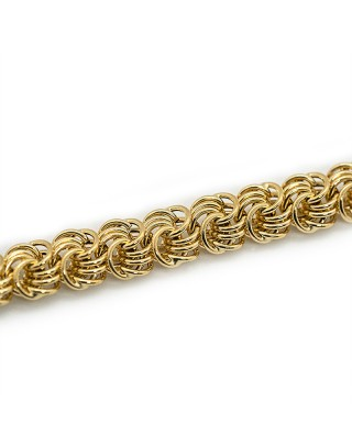 MAILLE MACARON - 8mm - OR 18K