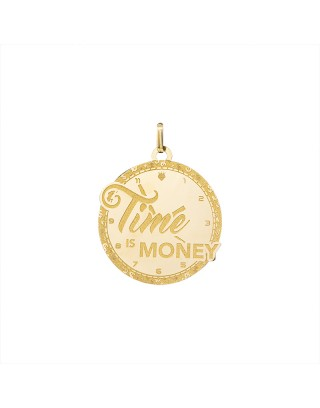 PENDANT TIME IS MONEY - OR 18K