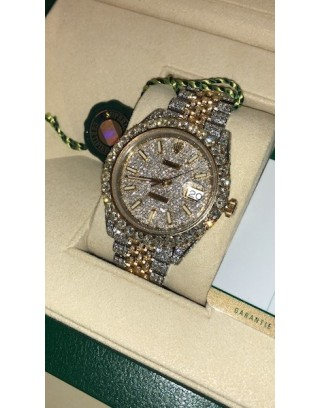 Rolex Date Just Full Diamond